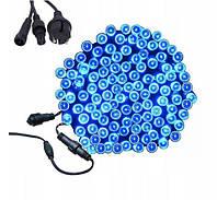 Новогодняя гирлянда 8 м 100 LED (Синий цвет)