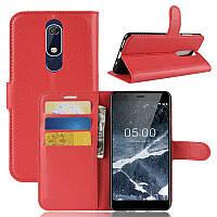 Чехол Luxury для Nokia 5.1 / 5 2018 книжка красный