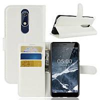Чехол Luxury для Nokia 5.1 / 5 2018 книжка белый