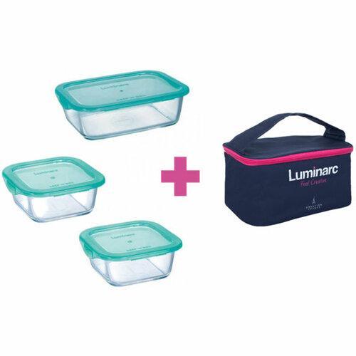 Набор контейнеров+сумка 4пр. LUMINARC KEEP'N BOX P8001