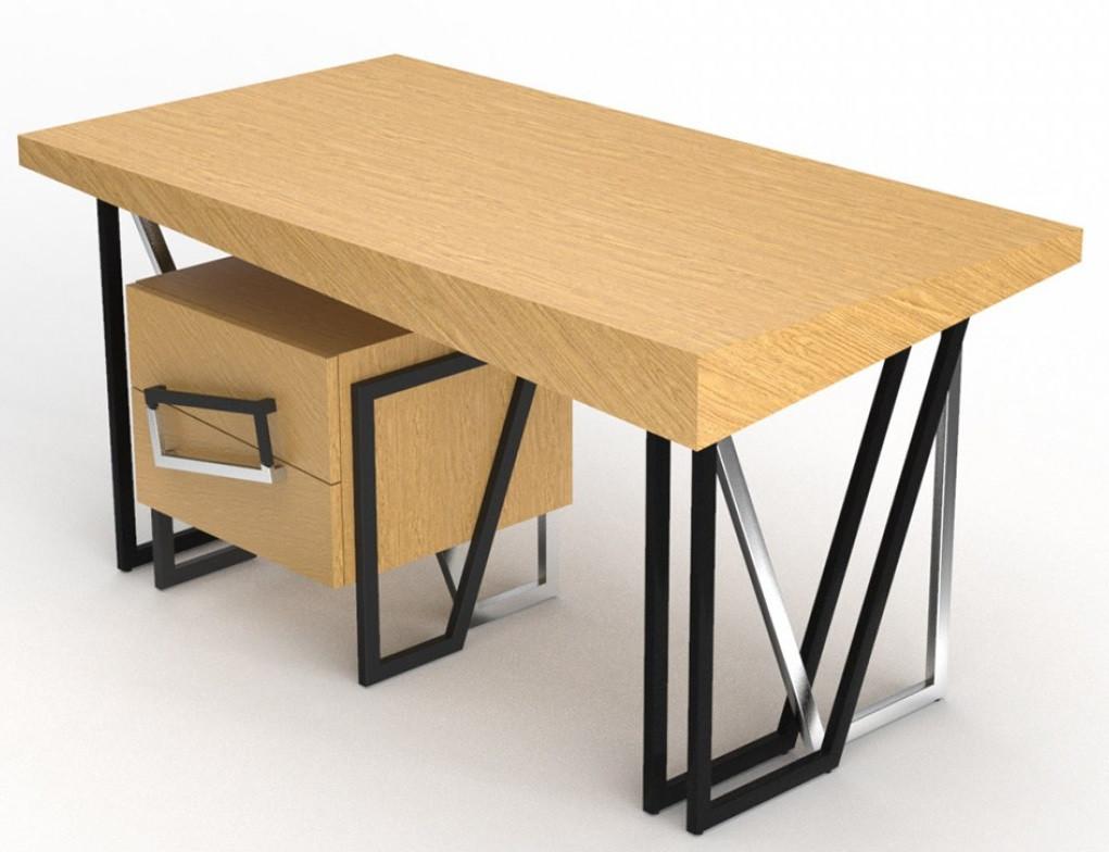 Комплект дизайнерский рабочий стол+ тумба  Angle OAK ТМ Esense