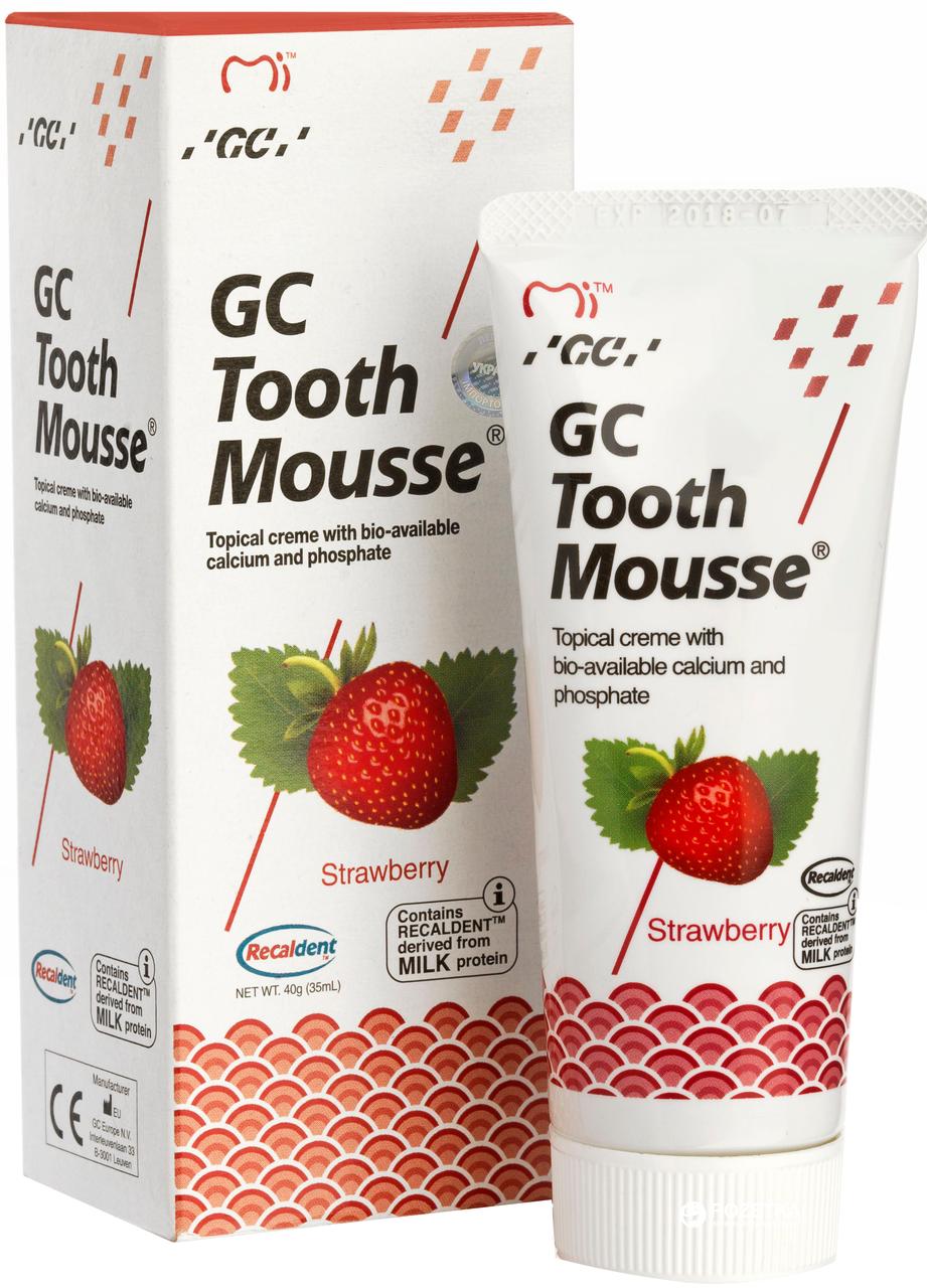 Крем для реміналізації GC Tooth Mousse - 35 г, полуниця