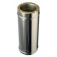 Труба с термоизоляцией нерж/нерж , Aisi304 Ø100*160*0,5 мм , L-500 мм