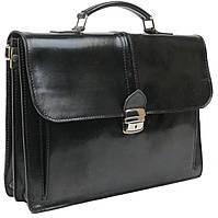 Портфель мужской кожаный TOMSKOR 81579 черный