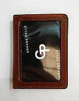 Обложка кожаная для паспорта и прав, тех.паспорт коричневого цвета GP