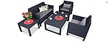 Набір садових меблів Orlando Set Lyon з штучного ротанга ( Allibert by Keter ), фото 3