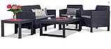 Набір садових меблів Orlando Set Lyon з штучного ротанга ( Allibert by Keter ), фото 2
