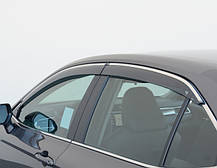 Дефлекторы окон (ветровики) Toyota Camry V70 2017- (с хром молдингом), фото 2