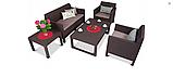Набір садових меблів Orlando Set Lyon з штучного ротанга ( Allibert by Keter ), фото 9