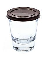 Банка стеклянная Everglass 50 мл.с коричневой пластиковой крышкой для пищевых и косметических продуктов