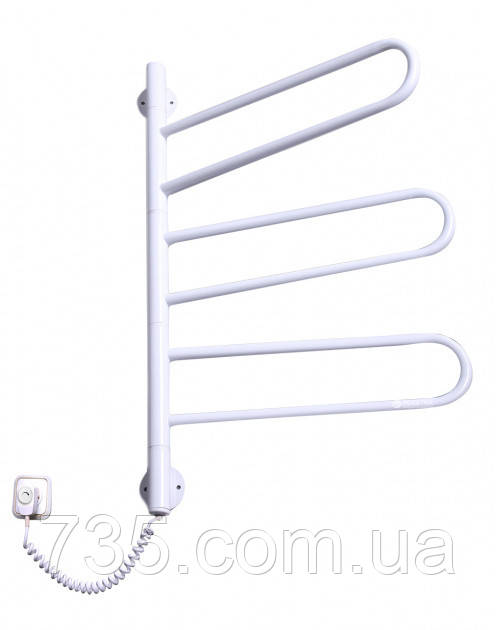 Полотенцесушитель Флюгер-3  поворотный с терморегулятором (белый)
