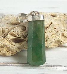 Серебряный кулон с зеленым гранатом №1