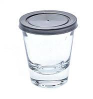 Банка стеклянная Everglass 50 мл.с серой  пластиковой крышкой для пищевых и косметических продуктов