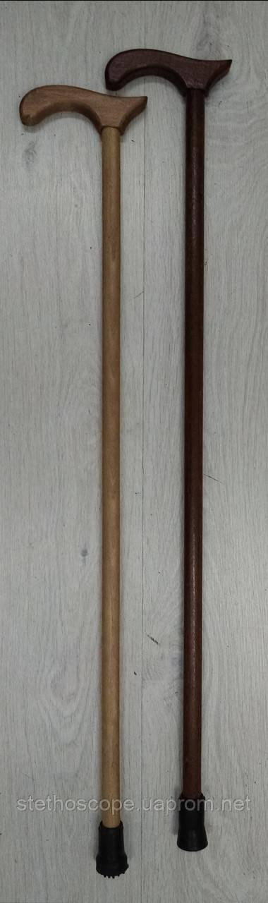 Трость деревянная лакированная, ручка деревянная.