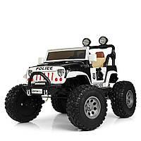 Детский  электромобиль джип полиция Jeep Wrangler M 4077