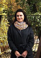 Фотоотчет о мастер классе по изготовлению шарфа из трикотажной пряжи Бобилон