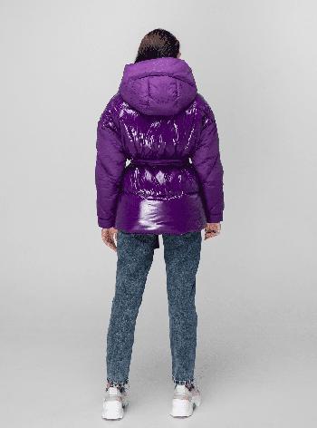 Женская зимняя куртка KTL-352 сливовая, фото 2