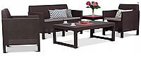 Набор садовой мебели Orlando Set Lyon Brown ( коричневый ) из искусственного ротанга, фото 1