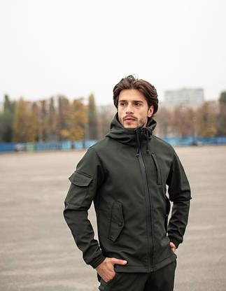 Мужской костюм хаки демисезонный Intruder. Куртка мужская хаки, штаны утепленные. Бафф в подарок, фото 3