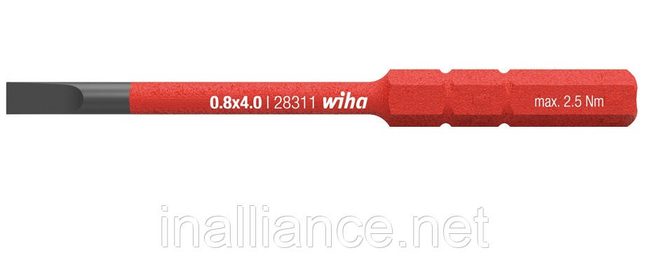 Бита 2,5 мм шлиц SoftFinish electric slimBit Wiha 34578