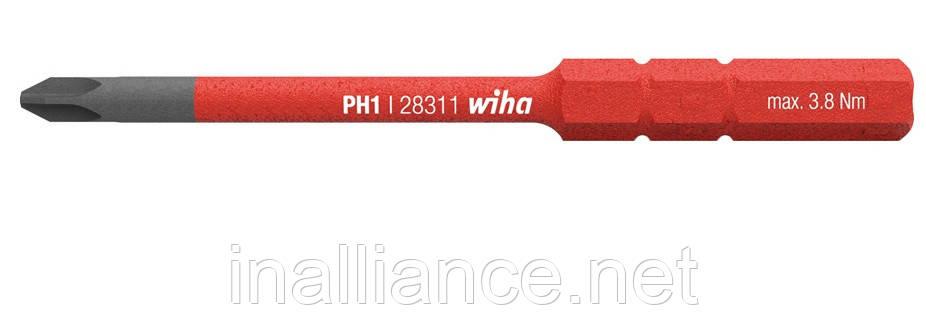 Бита PH1 SoftFinish electric slimBit Wiha 34583