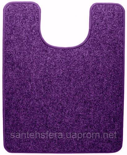 Термоковрик электрический для туалета Теплик 55х70 с термоизоляцией фиолетовый