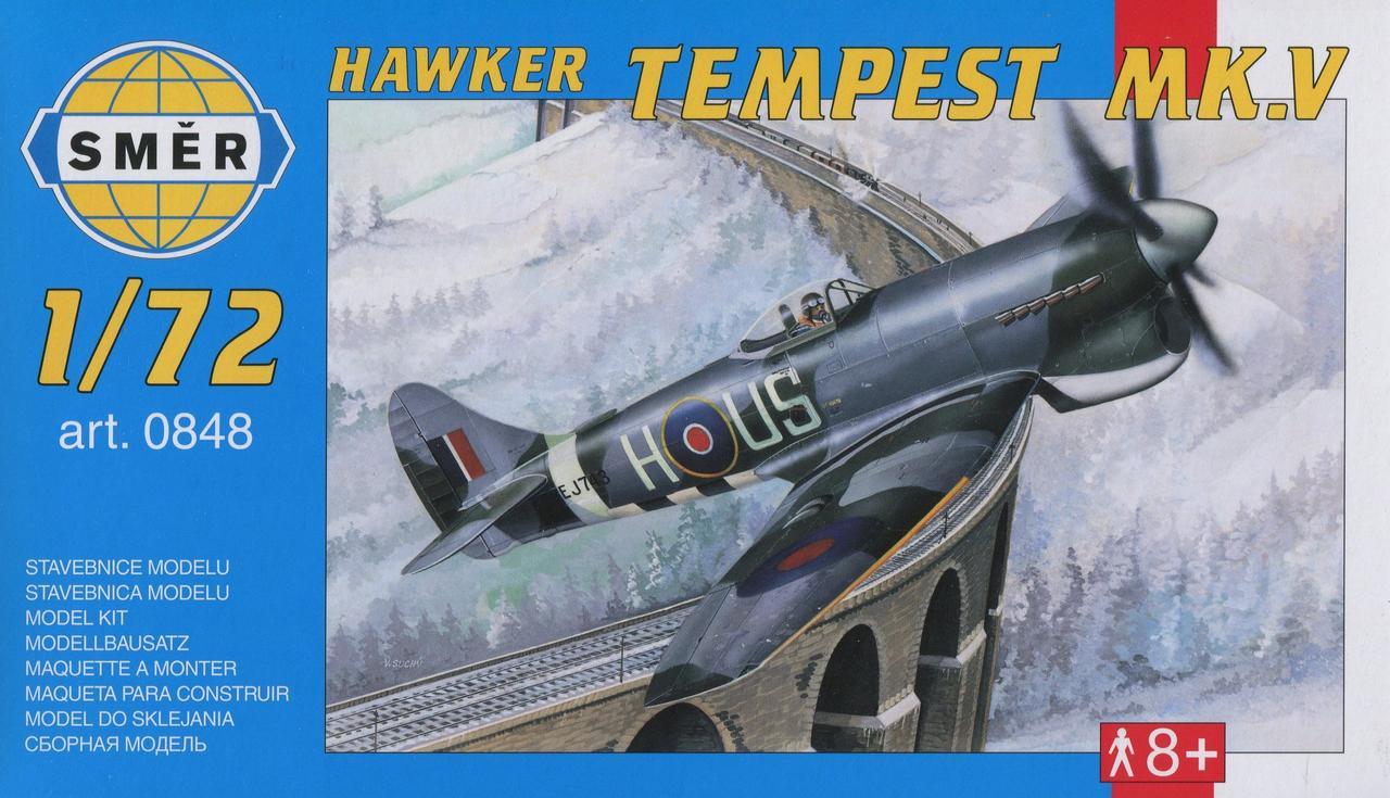 Hawker Tempest MK.V. Сборная модель самолета в масштабе 1/72. SMER 0848