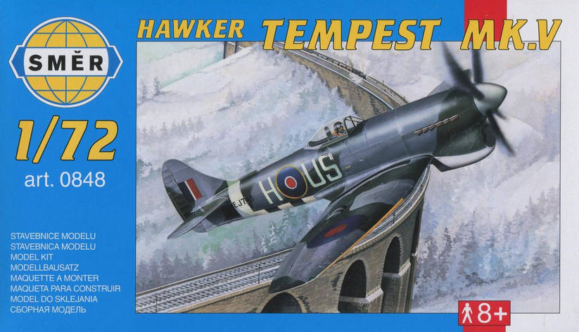 Hawker Tempest MK.V. Сборная модель самолета в масштабе 1/72. SMER 0848, фото 2
