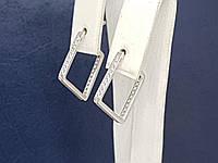 Серебряные серьги с фианитами. Артикул 4896, фото 1
