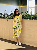 Дизайнерское платье женское желтое от ANDRE TAN: XS, S
