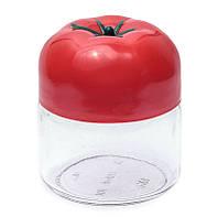 Банка стеклянная Everglass 330 мл.для хранения с красной пластиковой крышкой - Помидор