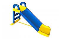 Гірка для катання дітей (синя з жовтими вставками) 140 см 0140/03 (Ф) (шт.)