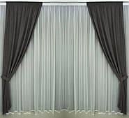 Готові дорогі однотонні щільні штори в спальню,залу,передпокою(тканинні підхоплення + 50 грн.)