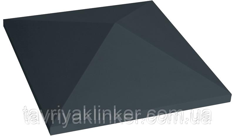Клинкерная крышка на забор KingKlinker Полярная ночь (08) 310х445х90мм