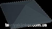 Клинкерная крышка на забор KingKlinker Полярная ночь (08) 445х585х106мм, фото 1