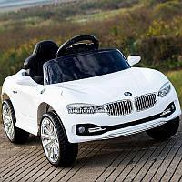Детский электромобиль M 3175 EBLR-1 с кожаным сиденьем, белый