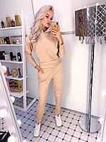 Костюм женский замшевый бежевый чёрный пудра хаки 42 44 46, фото 1