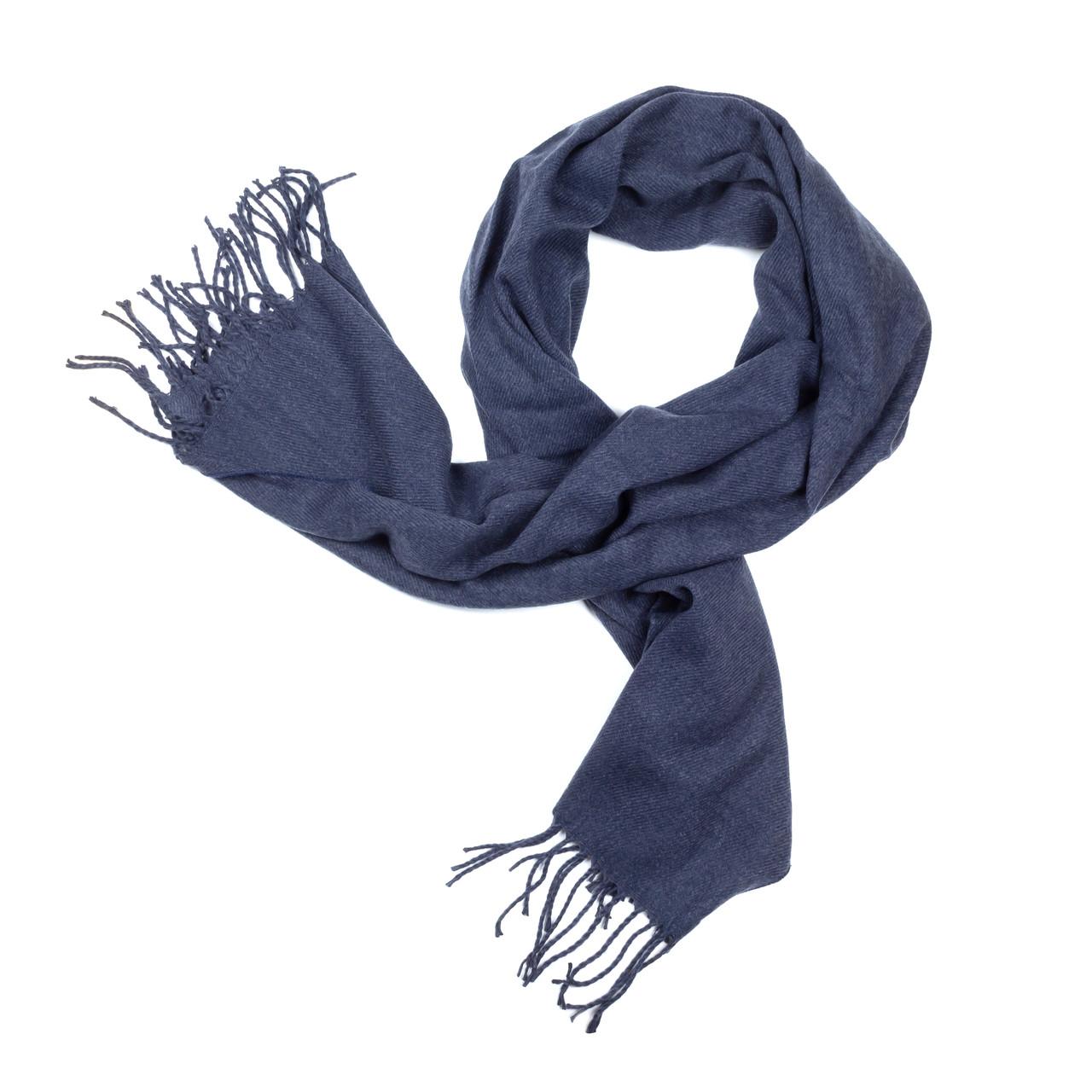 Палантин из шерсти синий (Ш-505-1)