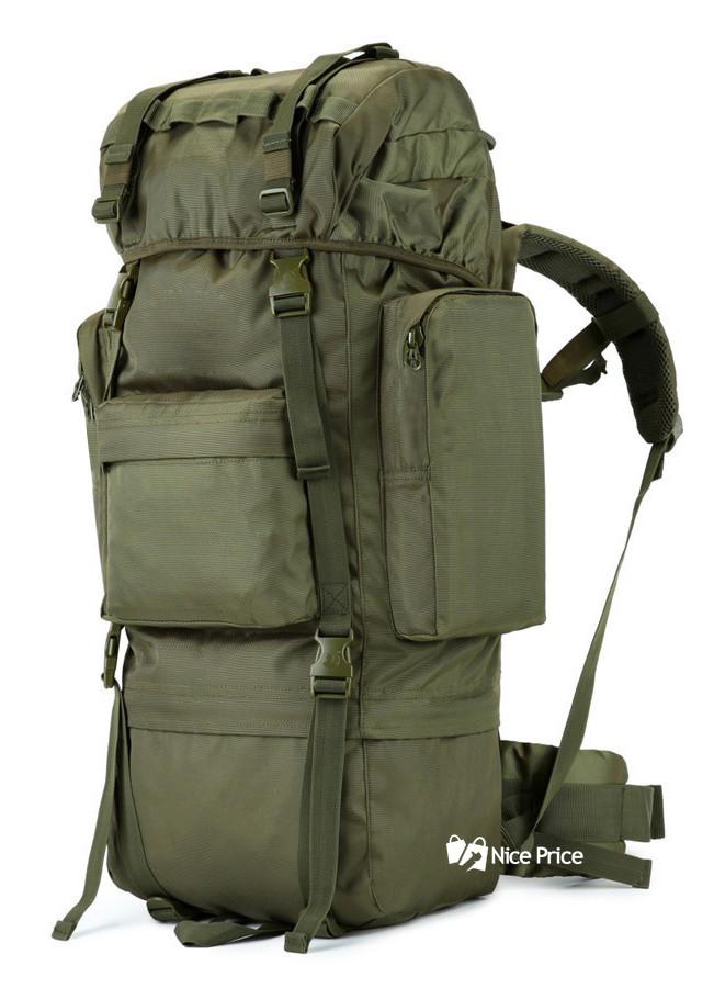 Тактический штурмовой военный рюкзак 65л Defcon с каркасом зеленый