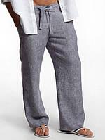 Стильные брюки мужские из белорусского льна оптом. ХС-10ХХЛ