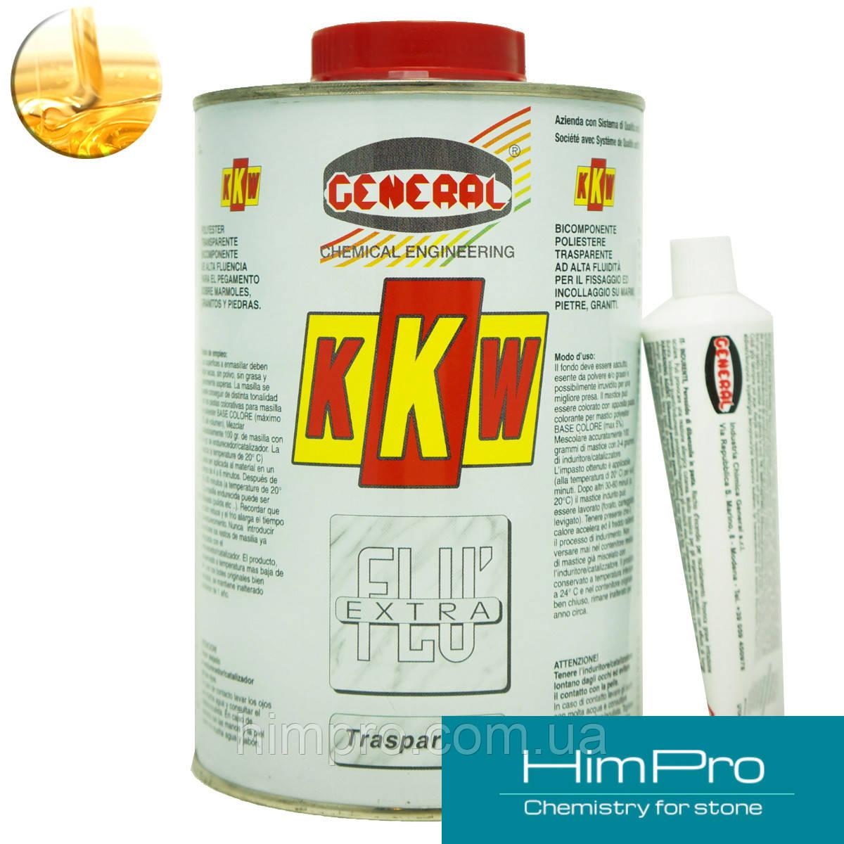 KKW 1L General Жидкий полиэфирный клей для мрамора, гранита  прозрачно-медовый