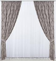 Готовые дорогие  плотные шторы с рисунком в спальню,залу  Турция(цвета в ассортименте)