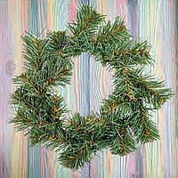 """Венок еловый рождественский на дверь""""Лесной"""" d -15cм, искусственная хвоя"""