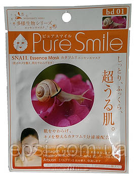 Маска для лица тканевая с муцином улитки Pure Smile Essence Mask Snail, 23 мл