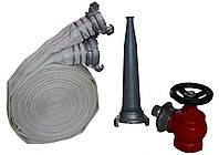 Рукав пожарный 51мм с краном ДУ-50 и стволом РС-50