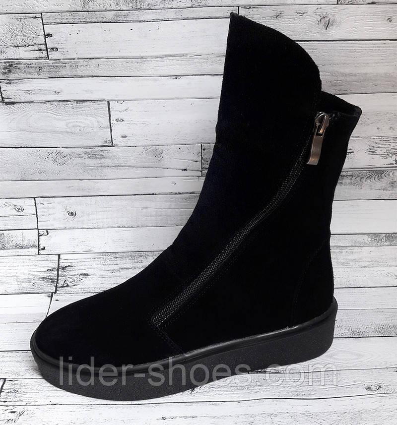Зимние женские ботинки на молнии