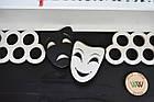 Медальница з дерева з полицями для кубків, гопак і театральна майстерність, маски драма і комедія, бойовий, фото 4