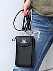 Сумка-клатч красная на ремешке с карманом для телефона, фото 9