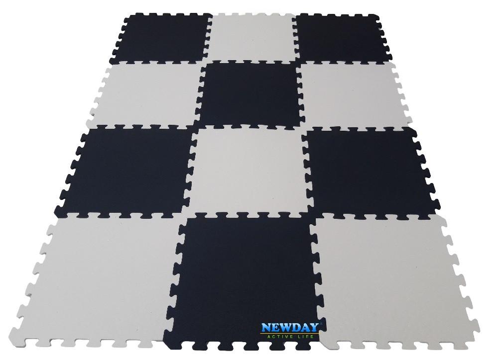 Коврик пазлы «Инь и ян», EVA, 12 элементов, 1920×1440×10мм,площадь 2,7м²,  плотность 100кг/м³