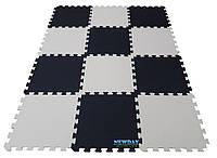 Коврик пазлы «Инь и ян», EVA, 12 элементов, 1920×1440×10мм,площадь 2,7м²,  плотность 100кг/м³, фото 1